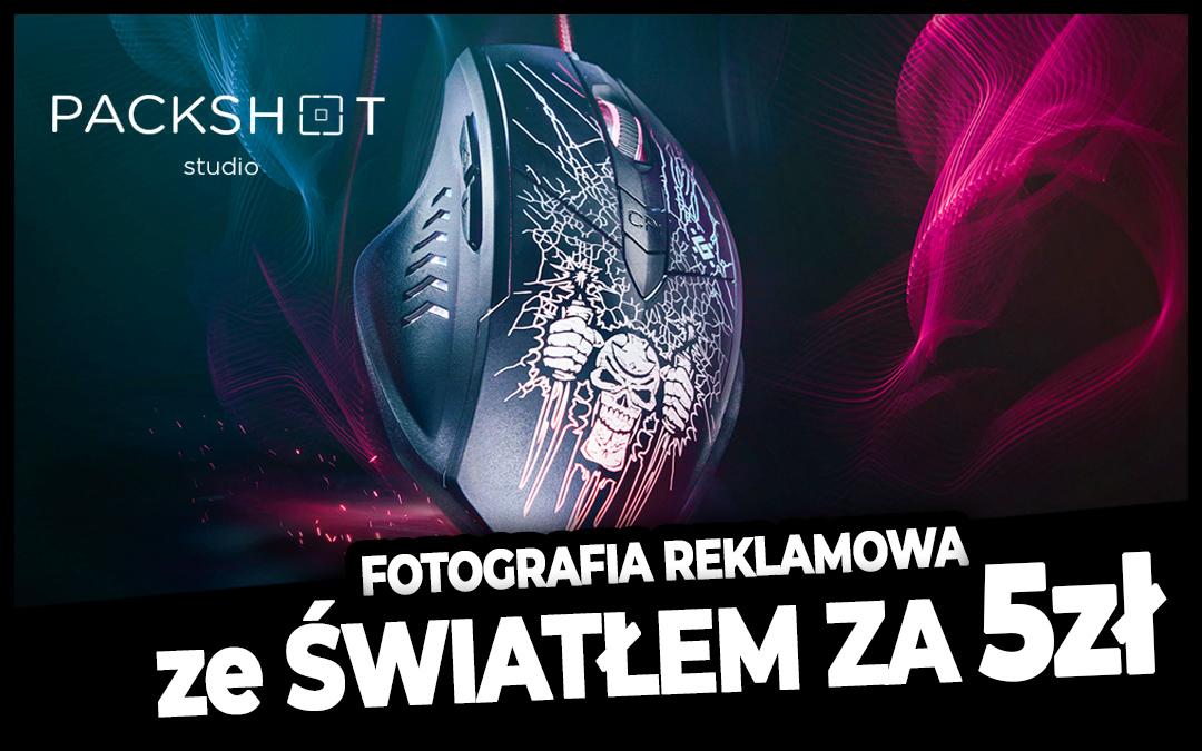 Fotografia reklamowa ze światłem z Latarki LED | Myszka jak Logitech